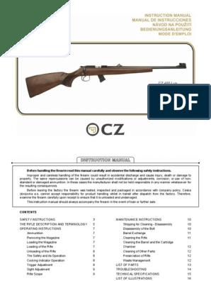 CZ 455 TRIGGER GUARD Ceska Zbrojovka spare parts rim fire