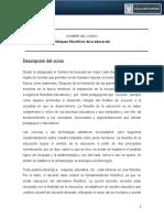 0101 ENFOQUES FILOSOìFICOS DE LA EDUCACIOìN