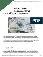 Cooperativas no tienen competencia para ordenar retención de honorarios _ Noticias jurídicas y análisis de nuevas leyes AMBITOJURIDICO.COM