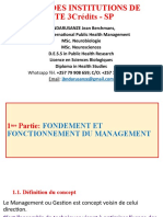 MANAGEMENT DES SERVICES DE SANTE