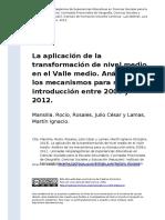 Mansilla, Rocio, Rosales, Julio Cesar (..) (2013). La aplicacion de la transformacion de nivel medio en el Valle medio. Analisis de los m (..)