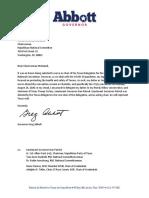Abbott Letter to Ronna Romney McDaniel
