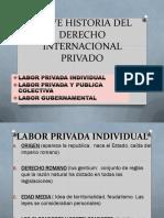 BREVE HISTORIA DEL DERECHO INTERNACIONAL PRIVADO