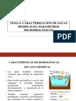 TEMA 4. PARÁMETROS MICROBIOLÓGICOS EN AGUAS RESIDUALES.