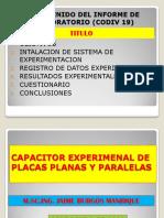 CONTENIDO DEL INFORME DE LABORATORIO (CODIV 19