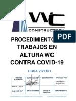 PROCEDIMIENTO DE TRABAJOS EN ALTURA COVID (VIVERO)