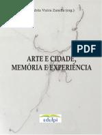 LIVRO ARTE e CIDADE, MEMORIA e EXPERIÊNCIA