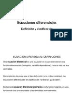 10. Ecuaciones dif. (Definicion y clasificacion) 1