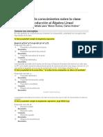 Informe de conocimientos sobre la clase Estructuras Algebraicas