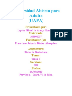 Historia Dominicana Tarea l (Laycha Araujo)