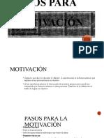 Pasos para la motivación COMPLETO