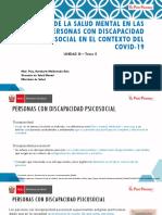 Tema 5 Cuidado de la salud mental en las personas con discapacidad psicosocial en el contexto del COVID-19