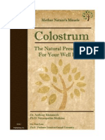 Colostrum, The Natural Prescription for Your Well Being