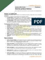 Clase 01 - Materias Primas