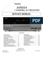 Harman/Kardon AVR 254 service manual]