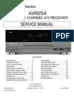 Harman/Kardon AVR 254 service manual]