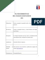 7.-Plan de emergencia del Colegio Louis Pasteur