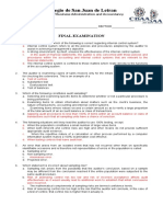 FINAL EXAM-AUDITING THEORY 2015