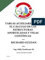 Tablas de Guldan en Español -Tablas Auxiliares Para El Cálculo de Las Estructuras Aporticadas y Vigas