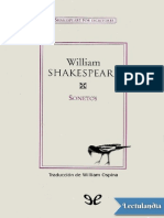 Sonetos de Shakespeare tr William Osina - William Shakespeare