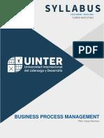 Syllabus BPM Matutino - Ene May 2020 - PhD Cesar H