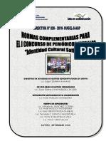 Directiva Nº 026-2010 Del I Concurso de Periódicos Murales y Bases