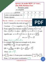Corrig_  de Maths BEPC-BF,  2020