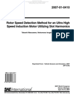 Rotor Speed Detection Method for an Ultra-High-Speed InductionMotor Utilizing Slot Harmonics