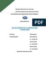 COLECCIONES DE CLASIFICACION Y SERIACIÓN