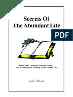 Secrets of the abundant life