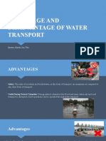 ADVANTAGE AND DISADVANTAGE OF WATER TRANSPORT