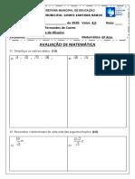 AVALIAÇÃO DE MATEMÁTICA 9º ANO.docx