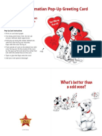 Dalmatian Pop-Up Greeting Card