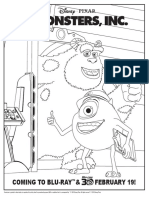 Monsters, Inc. Activity Sheet