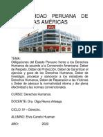 OBLIGACIONES DEL ESTADO PERUANO FRENTE A LOS DERECHOS HUMANOS DE ACUERDO A LA CONVECION AMERICADA 21JUL2020 CANELO