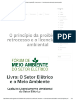 O princípio da proibição do retrocesso e o licenciamento ambiental _ saesadvogados.pdf