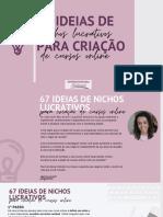 67 IDEIAS DE NICHOS LUCRATIVOS (f)