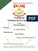 BASES GENÉTICAS DE LA CONDUCTA HUMANA (2)