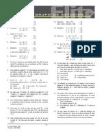 X    Sistema de ecuaciones