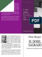 Berger, Peter. - El Dosel Sagrado. Para Una Teoría Sociológica de La Religión [1969]
