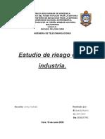 Estudio de riesgo industrial.