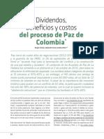 ECONOMIÍA, DIVIDENDOS, BENEFICIOS Y COSTOS DEL PROCESO DE PAZ DE COLOMBIA