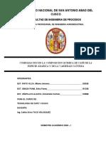 COMPARACION EN LA COMPOSICION QUIMICA DE CAFÉ DE LA ESPECIE ARABICA Y DE LA VARIEDAD CATURRA (1)