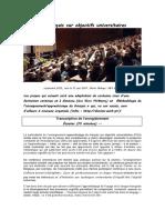 (transcription) Le français sur objectifs universitaires