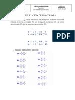 Multiplicación de fracciones grado cuarto
