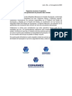 Comunicado Captura Del Marro - Coparmex Gto