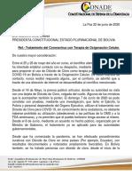 Carta Presidenta Dioxido de cloro CONADE