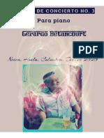 PASILLO DE CONCIERTO NO. 3. Para piano. Gerardo Betancourt.