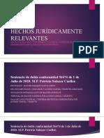 HECHOS JURÍDICAMENTE RELEVANTES 2020