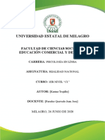 ANÁLISIS DE INDICADORES DE ECUADOR KARINA TRUJILLO